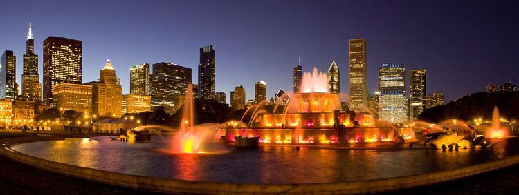 Чикаго Мемориальный фонтан Кларенса Букингема