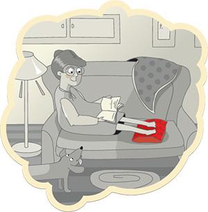 Применение горячей подушки с вишневыми косточками
